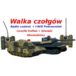 WALKI CZOŁGÓW ! Radio Control CZOŁG 2 szt + AKUM