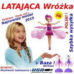 LATAJĄCA Lalka Wróżka Fairy MEGA ZESTAW +PODSTAWA