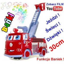 Straż Pożarna EDEK Auta Cars z bańkami FILM