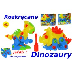 Rozkręcany Dinozaur ! DINO Ciągacz, pchanka