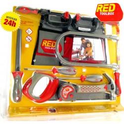 Red TOOLBOX Zestaw PRAWDZIWE NARZĘDZIA dla dzieci