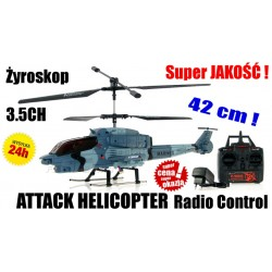 SUPER Helikopter ATTACK 5020 3.5CH GYRO 42cm LED