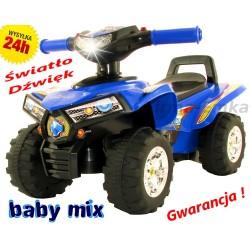 SUPER Efektowny JEŹDZIK Baby Mix QUAD Jeździdło