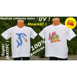 Koszulka T-shirt Bawełna UV ! ZMIENIA KOLOR rozm. XS