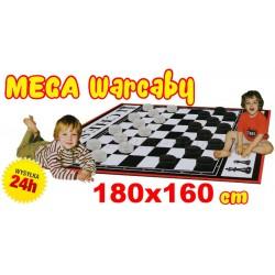 Rodzinna MEGA Gra Planszowa WARCABY 180X160cm MATA