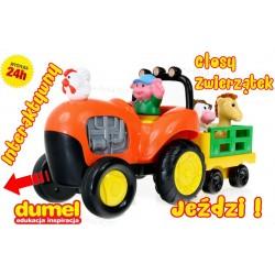 DUMEL Traktor WESOŁE RANCZO. Jeździ + Głosy Zwierzątek