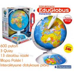 CLEMENTONI Interaktywny Globus EduGlobus Wersja POLSKA