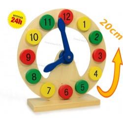 Zegar Edukacyjny Drewniany. Nauka odczytu zegara