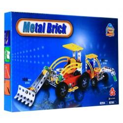 Mały Konstruktor METAL Pojazd budowlany z młotem