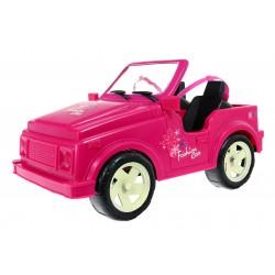 Różowe Autko kabriolet wózek dla lalki lalek 31 cm