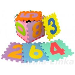 Puzzle piankowe MAXI 30x30 cm - 10 szt Cyferki 0-9