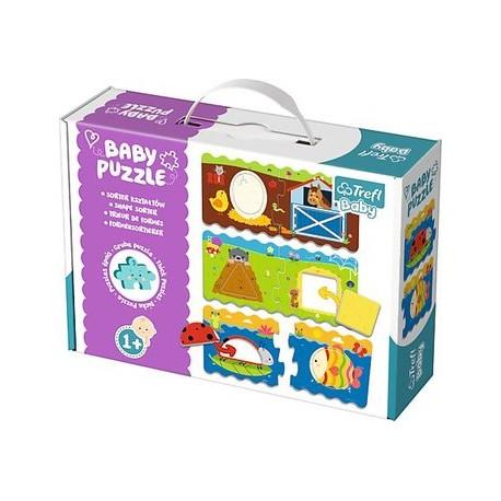 Baby Puzzle Trefl Sorter Kształtów Zwierzątka 1+