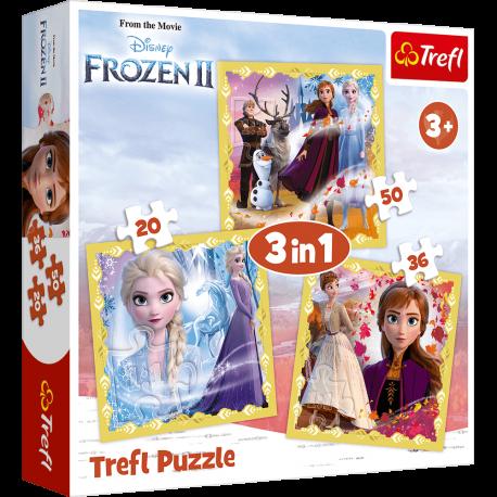 Puzzle 3w1 Kraina Lodu Frozen II Elsa Trefl 3+