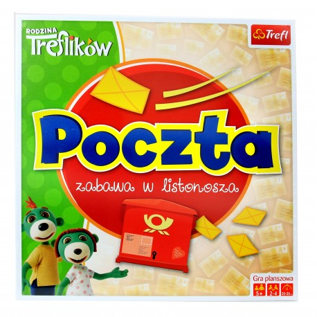 Gra Edukacyjna POCZTA Zabawa w Listonosza Trefl