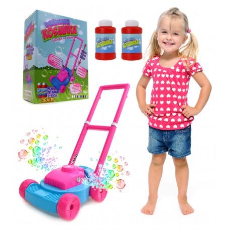 Różowa KOSIARKA dla dzieci. Na bańki + Płyn GRATIS