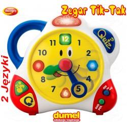 DUMEL Zegar Interaktywny Tik Tak UCZY! 2 języki !