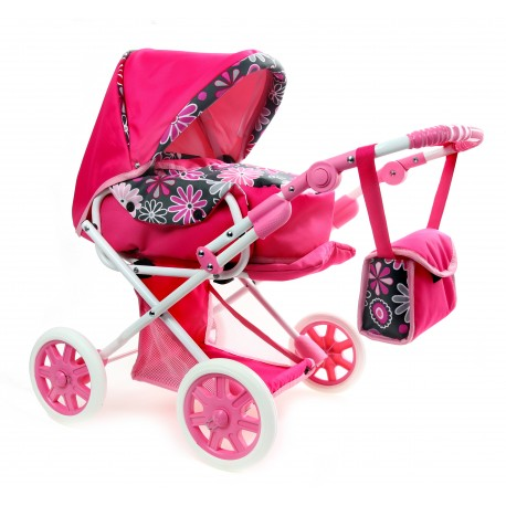 POLSKI Wózek dla lalek lalkowy MAJKA 3w1 Nosidełko