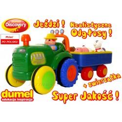 DUMEL Traktor FARMER Interaktywny. Odłgosy +Jeździ