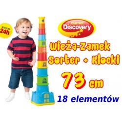 DUMEL Discovery Wieża Kubeczkowy ZAMEK KLOCKI 73cm
