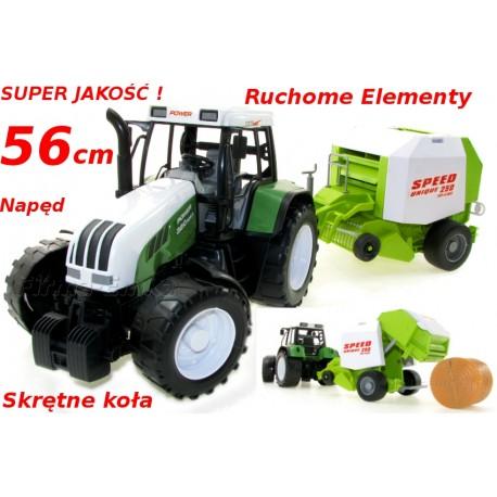 MEGA Traktor z prasą belarką do słomy JAKOŚĆ 56cm