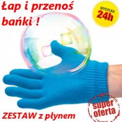 Bańki mydlane + RĘKAWICZKA DO BANIEK +Płyn NOWOŚĆ