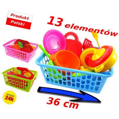 Naczynia, garnuszki dla dzieci KOSZYK DUŻY 36 cm