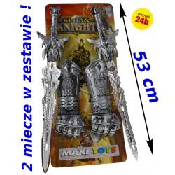 Mega ZESTAW RYCERSKI Zbroja, tarcza, miecz 50cm