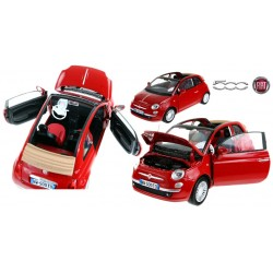 Fiat Nuova 500 Carbio MOTORMAX Model 1:24 Metal