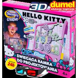 DUMEL Ramka Tablica 3D Color n Glow Hello Kitty
