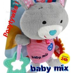 BABY MIX Maskotka 25cm + POZYTYWKA KRÓLIK szary