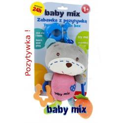 BABY MIX Maskotka 22cm + POZYTYWKA MIŚ z sercem
