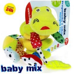 Przywieszka do wózka, łóżeczka, spiralka KROKODYLEK Baby Mix