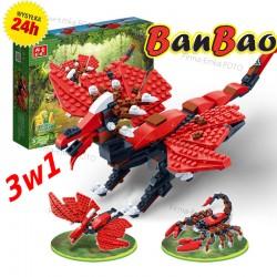 Klocki BanBao 6855 3w1 Smok Pterodon Skorpion 295e