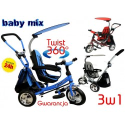 Baby Mix Rowerek Trójkołowy Obrotowy SAFARI 360