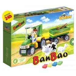 Klocki BanBao 8586 Traktor z przyczepą Ban Bao