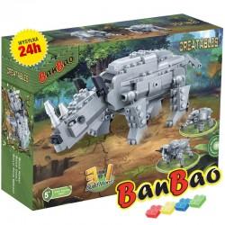 Klocki BanBao 6851 Słoń Nosorożec Byk 3w1 Ban Bao