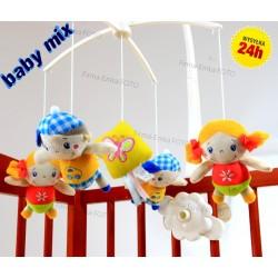 Baby Mix Pluszowa Karuzela Chłopiec i Dziewczynka