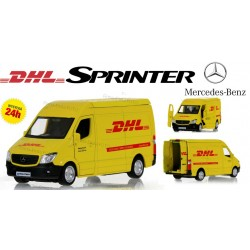 Mercedes Sprinter DHL Model Metal 1:36 Otw. drzwi