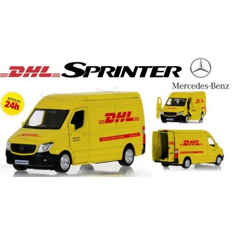 Mercedes Sprinter DHL Model Metal 1:36 Otw. drzwi