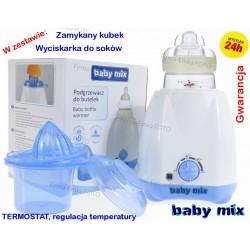 Baby MIX Podgrzewacz do mleka, butelek + DODATKI !