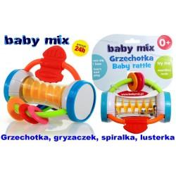 BABY MIX Grzechotka Lusterko SHAKER Gryzak 0+