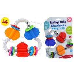 BABY MIX Edukacyjna Grzechotka gryzaczek gryzak 0+