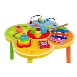 Drewniany stolik edukacyjny Baby Mix