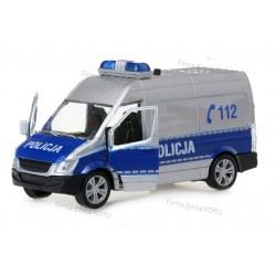Model metalowy Bus POLICJA Dźwięk Napęd Światła