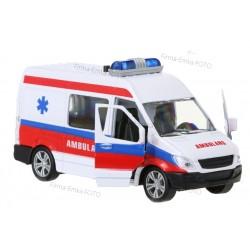 Model metal Ambulans POGOTOWIE Dźwięk Światła napę