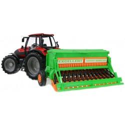 Traktor z siewnikiem SIEWNIK Skręt Napęd Ruch elem