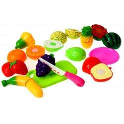 Owoce na rzep do krojenia. Zestaw 23 elementy