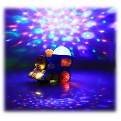 Pociąg Ciuchcia Lokomotywa Dźwięk + PROJEKTOR LED