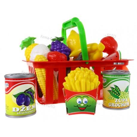 Koszyczek PIKNIK Koszyk z zakupami owocami OWOCE