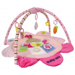 Baby Mix Mata edukacyjna KRÓLICZEK + PAŁĄK Zabawki
